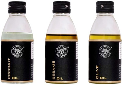 Ayurveda Essentials Coconut Sesame Olive Skin Treatment Oils