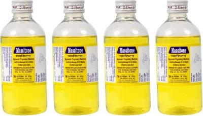 Massitone Massage Oil for Men, Women & Children (Pack of 4)
