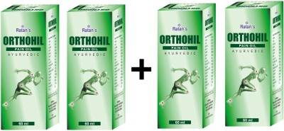 Ratans Orthohil Pain Oil Ayurvedic Pain Relief Oil 60 Ml (Buy 2 Get 2 Free Offer)(240 ml)