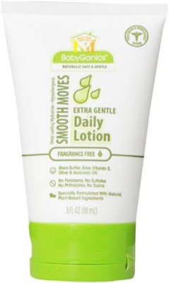 BabyGanics Smooth Moves Extra Gentle Daily Lotion Fragrance Free Pack of Packaging May Vary