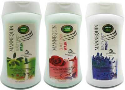 Mannequin Olive,Lavender,Red Rose Body Wash