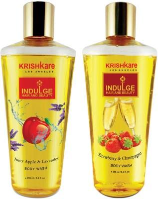 Krishkare Juicy Apple Lavender And Strawberry Champagne Body Wash