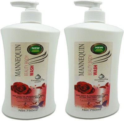 Mannequin Red Rose-Body Wash-750ml