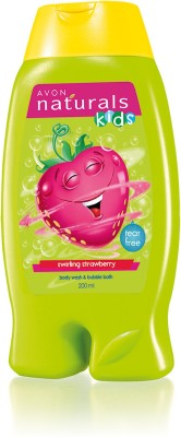 Avon Naturals Kids Little Delights Swirling Strawberry 2-in-1 Body Wash