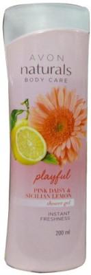 Avon Naturals Playful Pink Daisy & Sicilian Lemon Shower Gel