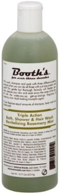 c. Booth Triple Action Bath Shower & Hair Wash Rosemary Mint