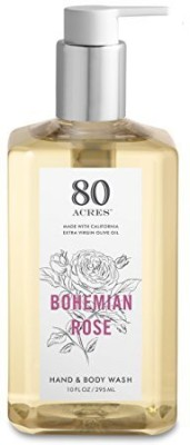 80 Acres Rose Hand and Body Wash- 10 Ounces(21 g)