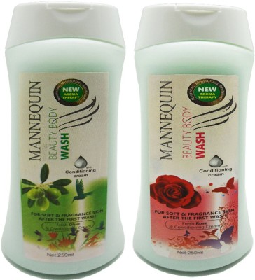 Mannequin Red Rose,Olive Body Wash