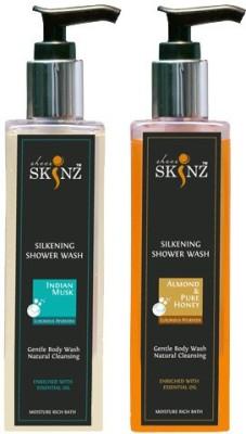 Sheer Skinz Body Wash Indian Musk , Almond Honey