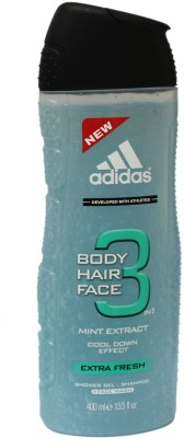 Adidas Mint Extract Cool Down Effect Extra Fresh Body Face Hair Wash Imported