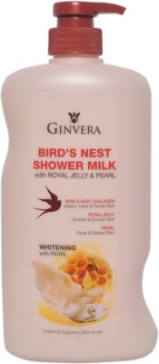 Ginvera Birds Nest Shower Milk Whitening With Pearl