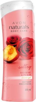 Avon Naturals Red Rose Peach Shower Gel