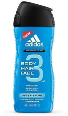 Adidas 3 In 1 Protein Rebalance Hydration After Sport Shower Gel . Shampoo + Face Wash.