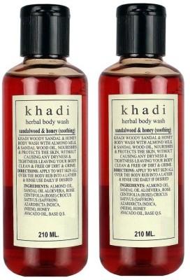 Khadi Herbal Sandalwood & Honey Soothing Body Wash