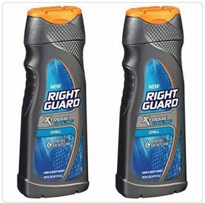 Right Guard Hair & Xtreme Cooling Chill Net Wt 473 Each Pack of 2