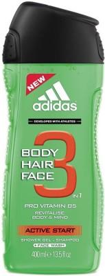 Adidas 3 In 1 Pro Vitamin B5 Active Start Shower Gel.