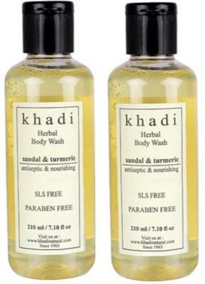Khadi Natural Sandal & Turmeric Body Wash- Sls & Paraben Free (Set of 2)