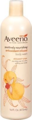 Aveeno Positively Nourishing Antioxidant Infused White Peach + Ginger Pack of 2