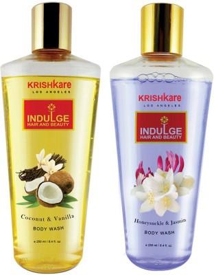 Krishkare Coconut Vanilla & Honeysuckle Jasmin Body Wash