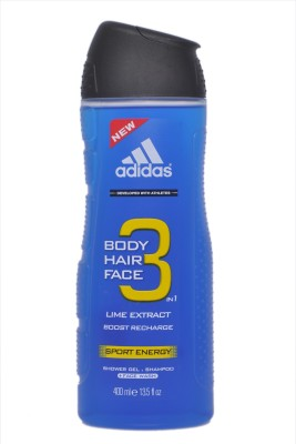 Adidas Body Hair Face 3 In 1 Lime Extract Sport Energy