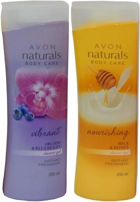 Avon Naturals Body Care Nourishing & Vibrant Shower Gel (Set of 2)