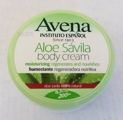 Instituto Espanol Avena Aloe Savila Body Cream Moisturizing Regenerates Nourishing amtc by