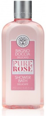 Erbario Toscano Delicate Rose Shower and Bath Gel with Rosa Damascena Flower Extract