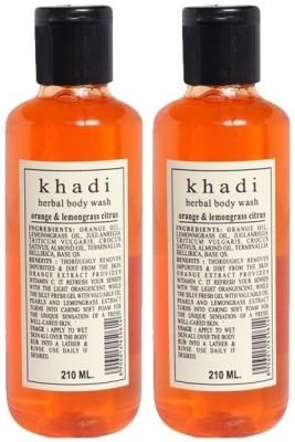 khadi Natural Orange & Lemongrass Citrus Herbal Body Wash