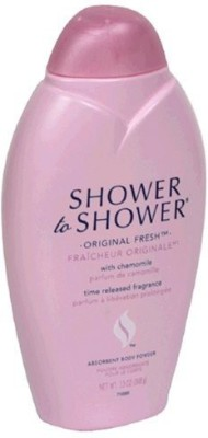 Shower To Shower Shower to Shower Absorbent Body Powder Original Fresh with Chamomile Bottles Pack of 2(390 ml)