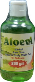 Aloeva Herbal Aloe-Vera Face and Body Wash Gel