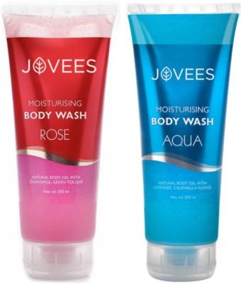 Jovees Moisturising Body Wash Combo ( Rose, Aqua )