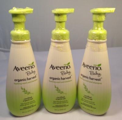 Aveeno Baby Organic Harvest Foaming Wash And Shampoo