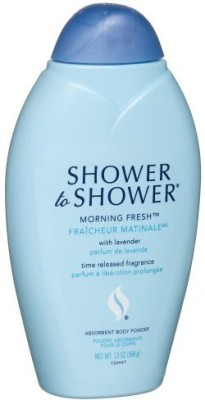 Shower To Shower Shower to Shower Absorbent Body Powder Morning Fresh with Lavender Bottles Pack of 4(390 ml)