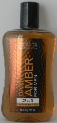 Bath & Body Works Dark Amber for Men in 1 Hair and 10