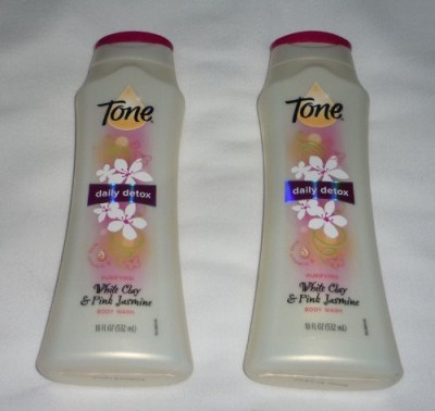 T.One Tone Daily Detox White Clay & Pink Jasmine Bottle