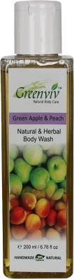 Greenviv Natural Green Apple & Peach Body Wash