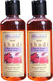 Khadi Rishikesh Herbal Rose & Honey 2 Bodywash Each - 210ML(420 ml)