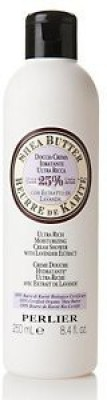 Perlier Shea Butter Ultra Rich Moisturizing Cream Shower with Lavender Extract with Certified Organic Shea Butter