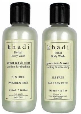 khadi Natural Herbal Green tea & Mint Body Wash - Twin Pack