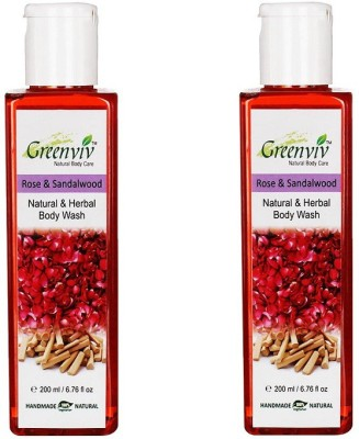 Greenviv Natural Rose & Sandalwood Body Wash