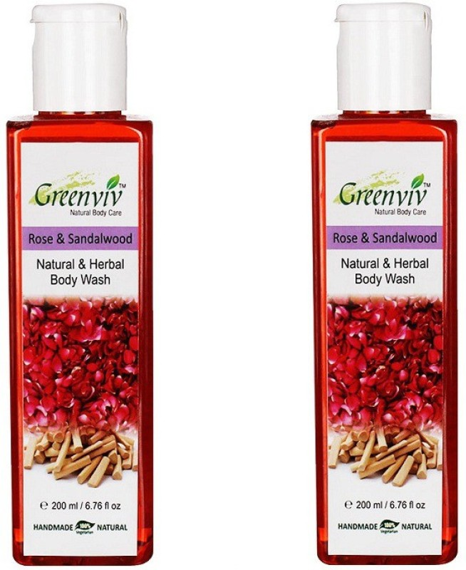 Greenviv Natural Rose & Sandalwood Body Wash(400 ml)