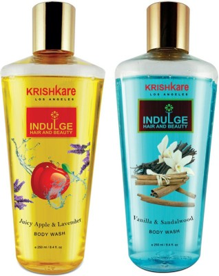 Krishkare Juicy Apple Lavender And Vanilla Sandalwood Body Wash