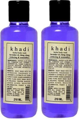 khadi Natural Lavender & Ylang Ylang Herbal Body Wash Pack of 2