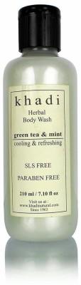 khadi Natural Green Tea and Mint Body Wash (SLS and Paraben Free)