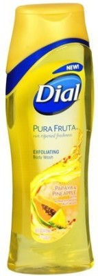 Dial Pura Fruta Papaya & Pineapple Exfoliating Set of 2