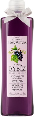 Manufaktura Fresh Black Currant and Olive Shower Gel & Shampoo (2-in-1)