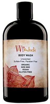 V&V Products Body Wash For Men & WomenSoap Leaves Skin Clean Fresh Moisturized Hydrated & NourishedOrganic Non GMO Ingredients Vegan Gluten Free Paraben & Sulfate FreeUnscented For Sensitive Users