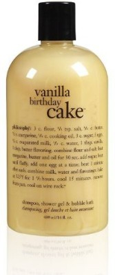 Philosophy Vanilla Birthday Cake Shampoo/Shower Gel/Bubble Bath,(480 ml)