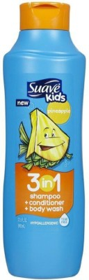 Suave Kids 3 In 1 Shampoo, Conditioner & Bodywash - Pineapple