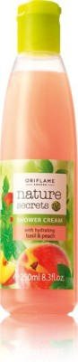 Nature Secrets Shower Cream with Hydrating Basil & Peach